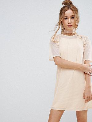 ASOS Petite Mesh T-Shirt Dress With Cami