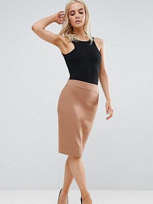 ASOS Petite High Waisted Pencil Skirt - Camel