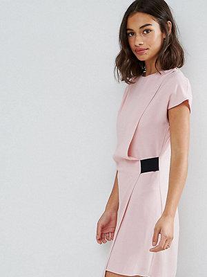 ASOS Petite Drape Front Mini Dress with Elastic Detail