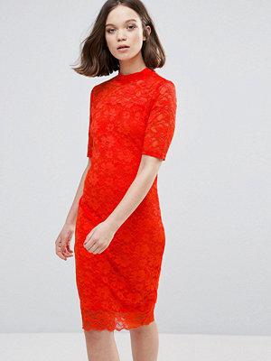 Ichi 3/4 Sleeve Lace Midi Dress