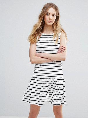 Ichi Striped Drop Hem Dress