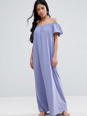 ASOS Petite Off Shoulder Maxi Dress