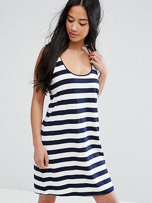 ASOS Petite Ultimate Vest Dress in Stripe