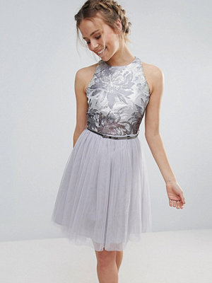 Little Mistress Tulle Belted Prom Dress