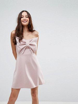 ASOS Scuba Bow Front Mini Dress