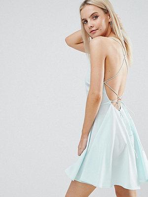 ASOS Petite Plunge Strap Back Mini Dress