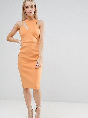ASOS Petite Scuba Cut Out Neck Asymmetric Dress