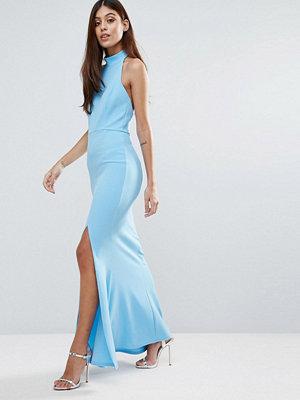 Club L Choker Neck Detail Maxi Dress With Thigh Split