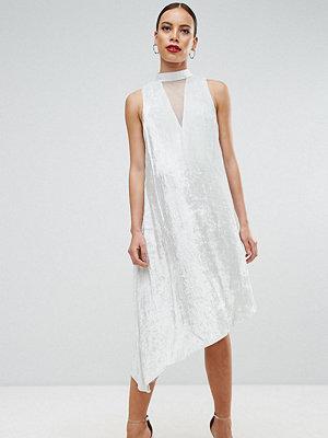 ASOS Maternity Velvet High Neck Dress - Mint