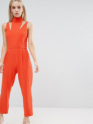 ASOS Petite Jumpsuit with Cut Out Detail and High Neck