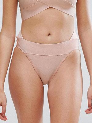 PrettyLittleThing Bandage Bikini Bottoms - Nude