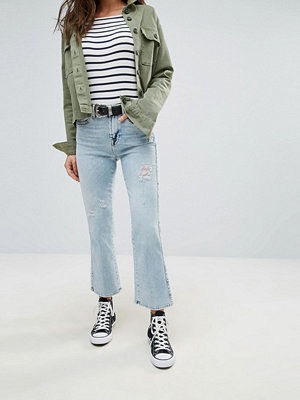 7 For All Mankind Cropped Boot Kick Bleach Jeans