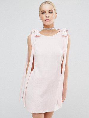 ASOS Petite Rib Bow Mini Shift Dress