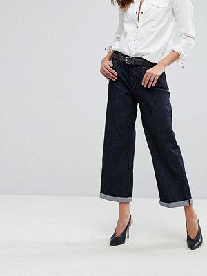Replay Basinkim Jeans med vida ben och uppvikt kant Rå