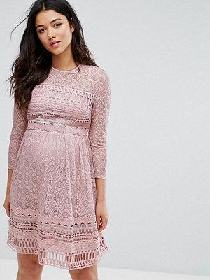 ASOS Maternity PREMIUM Lace Skater mini dress - Lilac