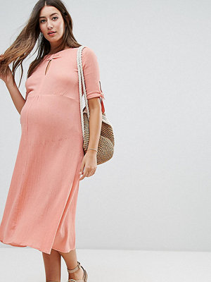 ASOS Maternity Cheesecloth Dress with Tab Detail