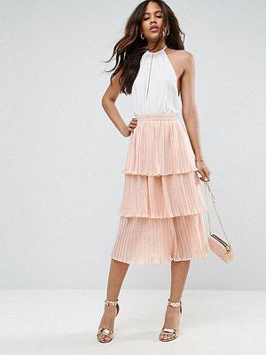Asos Tall Tiered Pleated Midi Skirt