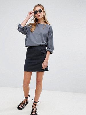 Cheap Monday Cotton Mini Skirt with Pocket - Shadow