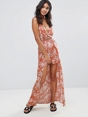 Parisian Paisley Maxi Dress - Rust