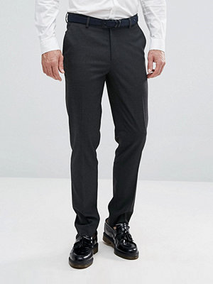 ASOS Skinny Smart Trousers in Charcoal