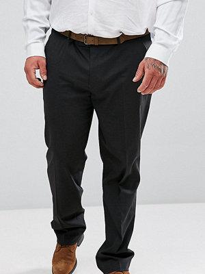 ASOS PLUS Slim Smart Trousers In Charcoal