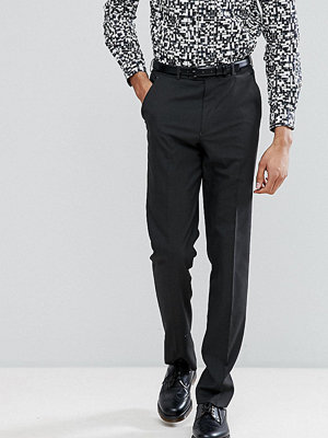 ASOS TALL Slim Smart Trousers In Charcoal