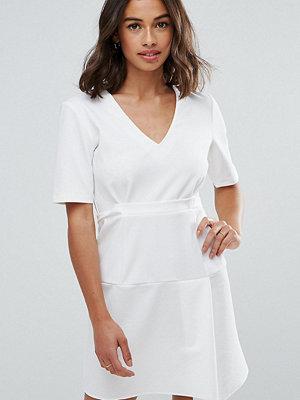 ASOS Petite Paper Bag Waist Tuck Shift Dress