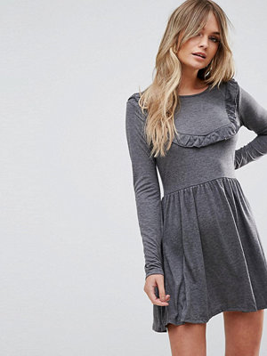 Brave Soul Tippie Skater Dress With Frill Bib