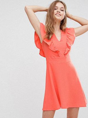 Liquorish Frill Front Dress