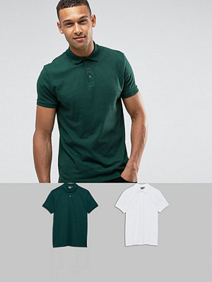 ASOS Jersey Polo 2 Pack SAVE