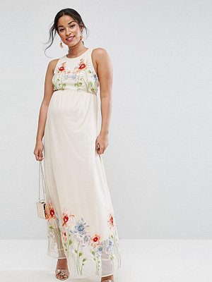 ASOS Maternity TALL Embroidery Mesh Maxi Dress