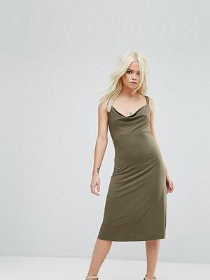 ASOS Petite Midi Cowl Front Swing Dress