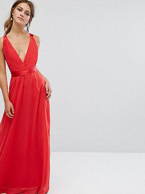ASOS Petite Satin Tie Back Maxi Dress
