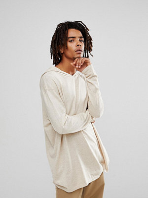 ASOS Cotton Hoodie In Oatmeal