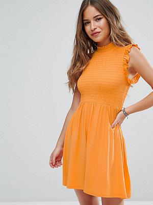 ASOS Petite Mini Skater Dress With Shirring Panel