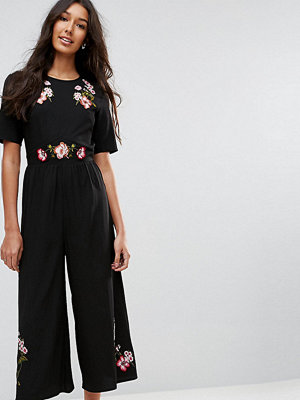 Asos Tall Tea Jumpsuit with Embroidery