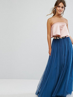 ASOS Petite Tulle Maxi Skirt with Embellished Waistband
