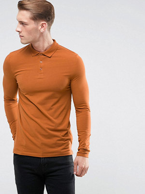 ASOS Long Sleeve Muscle Fit Polo