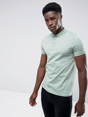 ASOS Short Sleeve Polo In Jersey