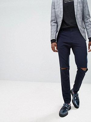 ASOS Super Skinny Smart Trousers With Knee Splits