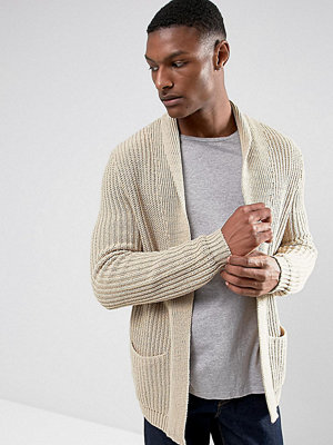 ASOS TALL Knitted Cardigan In Oatmeal