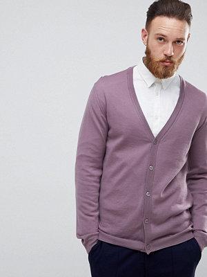 ASOS Merino Wool Cardigan In Lilac