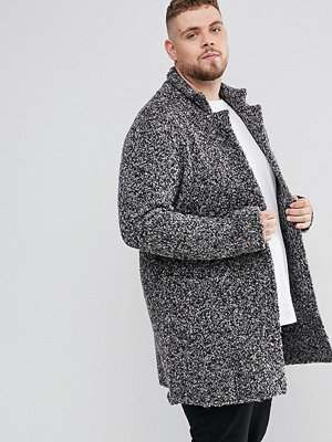 ASOS PLUS Longline Heavyweight Knitted Duster Cardigan in Charcoal - Charcoal
