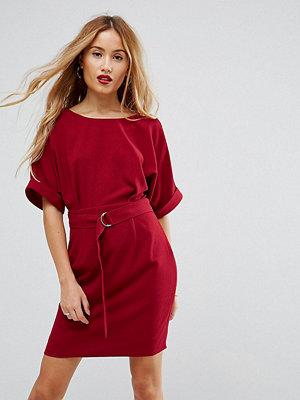 ASOS Petite Mini Smart Woven Dress with D-Ring Belt