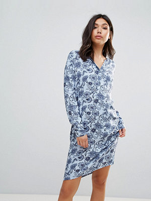 Ichi Printed Shirt Dress