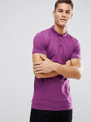 ASOS Longline Muscle Polo In Jersey