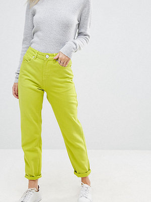 ASOS Petite ORIGINAL Neonfärgade jeans med mom fit Neon