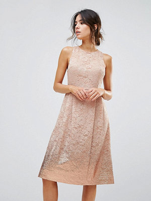 Warehouse Foil Lace Dress