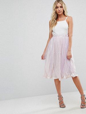 Boohoo Embellished Tulle Skirt - Lilac