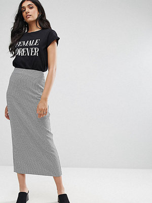 Asos Tall Tailored Collumn Pencil Skirt in Houndstooth Check